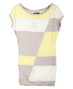 Contrast T-Shirt with Scoop Neckline