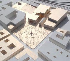 2012 / MERCADO DE LA LAGUNA : LUXÁN ARQUITECTOS Maquette Architecture, Modern Architecture, Model Sketch, Modeling Techniques, Arch Model, Vs Models, School Architecture, Cartography, Urban