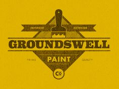 Old-fashioned-paint-logo-design