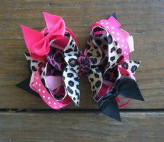 Cheetah hair bow!!  $7