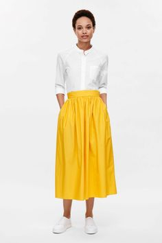 COS | Gathered cotton skirt