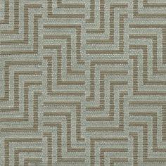Harcourt Velvet A stunning fabric with a cut velvet fretwork design on an épinglé weave base. Shown in aqua on grey.