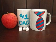 Hand-paint Dad a coffee mug for Father's Day>> http://www.hgtv.com/holidays-and-entertaining/10-easy-diy-fathers-day-gifts/pictures/page-9.html?soc=pinterest