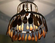 21 Unique Lighting Design Ideas Recycling Tableware and Kitchen Utensils into Lighting Fixtures
