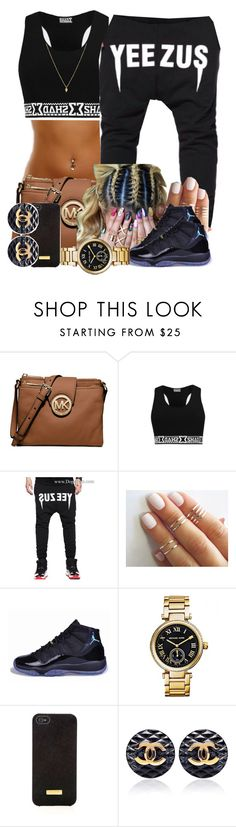 """""""Yeezus"""" by blasianmami16 ❤ liked on Polyvore featuring Michael Kors, NIKE and Henri Bendel"""