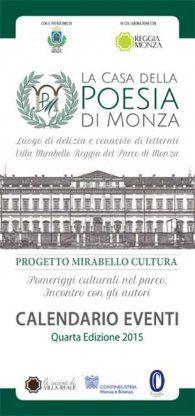 Collaborazione tra La Casa della Poesia di Monza e La Vita Felice - Calendario eventi Mirabello Cultura 2015