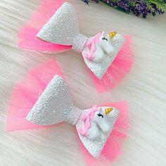 Unicorn Bow Glitter Unicorn Bow Unicorn Headband Pink   Etsy