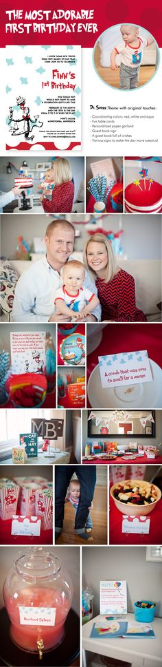 A Dr. Suess First Birthday Party! From Paperista.