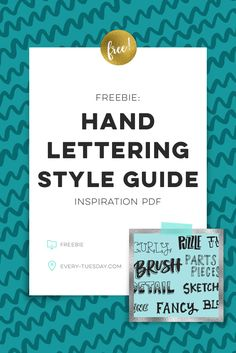Super useful free hand lettering style inspiration guide (pdf)! https://every-tuesday/freebie-hand-lettering-style-inspiration-guide