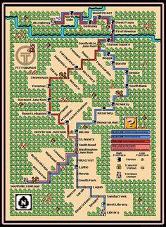 バンクーバーの地下鉄は…こんな感じ!? 今回ご紹介するのは、「スーパーマリオ3」のマップ風にデザインされた 地…