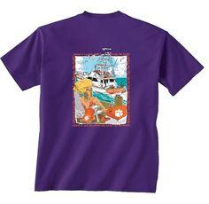 Clemson Purple Paw Power T Shirt | underthecarolinamoon.com