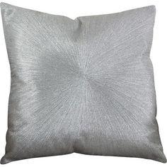 Saro Shimmering Starburst Cotton Throw Pillow Color: Silver