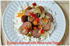 Life With 4 Boys: Slow Cooker Sausage with Onions and Peppers