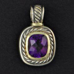 "David Yurman Amethyst ""Albion"" Pendant | Perry's Fine Antique & Estate Jewelry"
