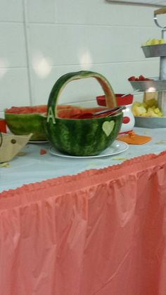 Watermelon bowl I did for my nieces wedding.
