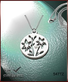 Axcesi 547T Flowers pendant stainless steel 28x28mm   by Axcesi