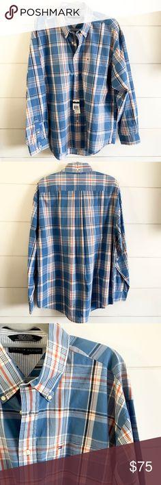 NWT Tommy Hilfiger Button Down Shirt NWT Tommy Hilfiger button down long sleeved collared shirt. Size XL Tommy Hilfiger Shirts Casual Button Down Shirts