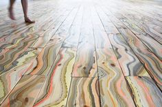 Amazing organic/man-made color mix!!  Marbled Wood Flooring By Snedker Studio - decor8
