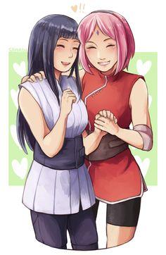 Hinata and Sakura--best friends! [by say0ran-arts.tumblr.com]