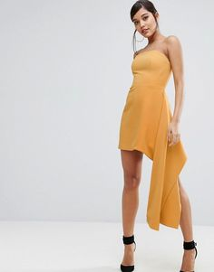 C/meo strapless dress