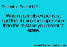 The worse part is when you discover your pencil does this, on a testing day...
