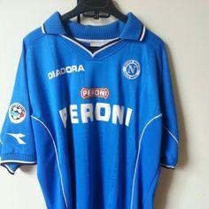 53130c411 Maglia Napoli originale diadora taglia xl usata anno birra - Depop Football  Kits