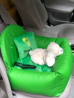 Excited to share this item from my #etsy shop: Green car seat for dog Eco leather pet car seat Luxury yellow driving kit Designer dog car seat Luxury dog bed for traveling Custom car seat Custom Car Seats, Custom Cars, Dog Suit, Dog Car Seats, Small Pillows, Cozy Bed, Pet Names, Dog Harness, Dog Design