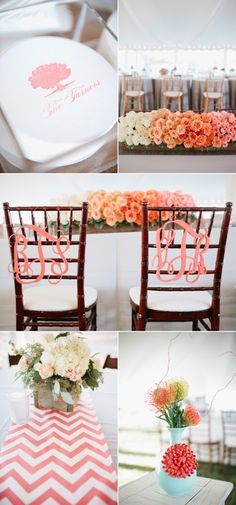 monogrammed bride and groom chairs
