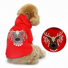 Luminous Pet Clothes Winter Dog Pet Clothes Santclaus,Red,L ** Want additional info? Click on the image. (This is an affiliate link) #DogApparelAccessories
