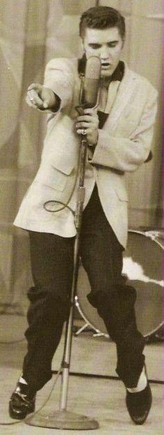 Elvis Presley on The Milton Berle Show, June 5, 1956 http://www.elvis-history-blog.com/elvis-milton-berle.html#