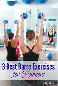 Barre strengthens and stretches muscles throughout the body, especially areas that many runners have imbalances, and helps runners improve their posture, prevent injury and even improve performance. Here are 3 great barre exercises for runners. Running Workouts, Pilates Workout, Fun Workouts, Workout Tips, Running Tips, Trail Running, Strength Training For Beginners, Strength Training For Runners, Fitness Tips