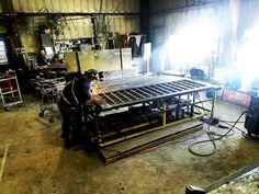 Automated Wrought Iron Lattice Gate fabrication