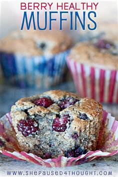 Berry Healthy Muffins | Paelo-Friendly | shepaused4thought.com