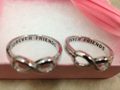 Same Day Shipping Infinity Ring, Best Friends Ring, Infinity Sister, BFF, Best Friends, Sisters Infinity Ring, Forever Friends Ring, - Beautiful Ring Photo