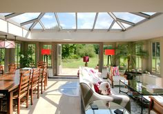Malbrook Conservatories and orangeries are individually designed, constructed and custom-built to respond sympathetically to the architecture of your house and the layout of your garden. Hardwood, Breakfast Room, Interior Design, Future House, Roof Lantern, Home, House, Interior, House Extension Design