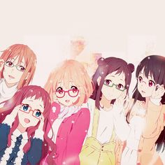 Kyoukai no Kanata. I haven't seen this anime, but I thought this was a cute picture.