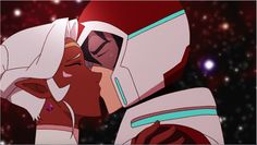 Keith and Princess Allura sharing a romantic kiss from Voltron Legendary Defender