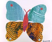 eric carle inspired art for life cycle from sparkle Butterfly Project, Butterfly Art, First Grade Crafts, Fairy Tale Crafts, Deep Space Sparkle, Paper Butterflies, Kindergarten Art, Eric Carle, Teaching Art
