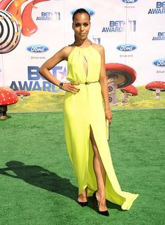 Mellow Yellow--->Kerry Washington attends the 2011 BET Awards