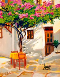 Rose Petals — the-killin-jar: Shari Erikson Caribbean Culture, Caribbean Art, Tropical Art, Naive Art, Acrylic Art, American Artists, Cat Art, Garden Art, Folk Art