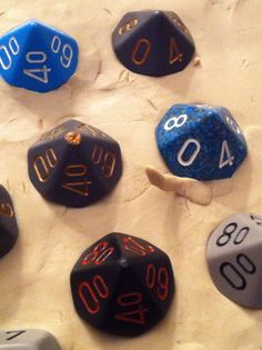 How to make your own Dungeons & Dragons chocolate dice mold - I could make this for the hubby's DnD nights but his friends would laugh at me haha