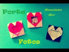 Origami - Papiroflexia. Porta fotos con forma de corazón, especial 14 de...