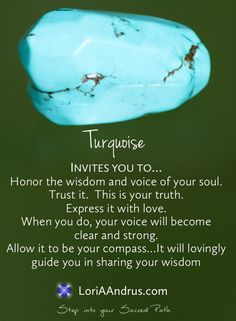Turquoise...a stone of expression...