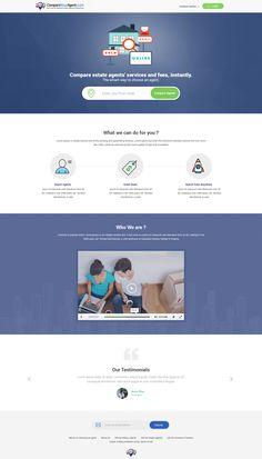 Website design for comparing agents