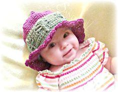 Dragonfly Summer Beach Hat pdf672 digital by SandysCapeCodOrig, $4.95