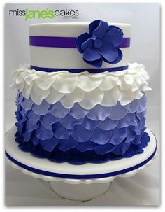 Katherine's Wedding Cake, via Flickr.  www.missjanescakes.com.au