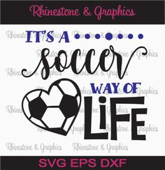 Soccer Life Pattern Instant Download SVG EPS DXF Cutting file by RhinestoneandGraphic on Etsy