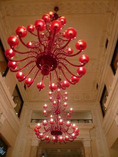 상해에서 보았던 빨간 샹드리에 また行きたい上海 The Bund Shanghai