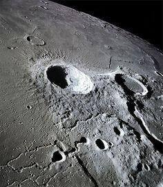 Hubble telescope image of the Moon.:
