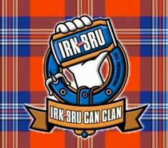 """Irn Bru Clan Motto - """"Made from Girders"""" Best Of Scotland, Glasgow Scotland, Scottish Dishes, Irn Bru, Fish And Chip Shop, Buy Tea, Soul On Fire, Advertising Photography, Screen Printing"""